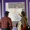 Passengers looking at Tartan Map