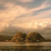 Dumbarton Rock across the river
