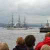 Tall Ship in parade of sail