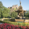 Edinburgh Castle and Fountain